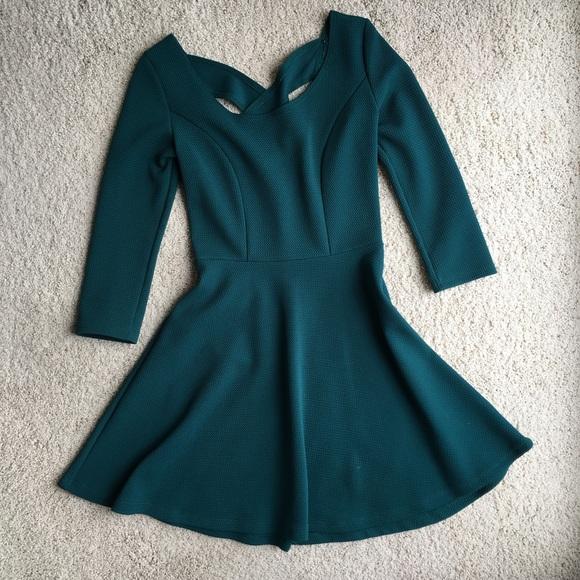 9772bd41cb31 Charlotte Russe Dresses   Skirts - Forest Green Skater Skirt Dress